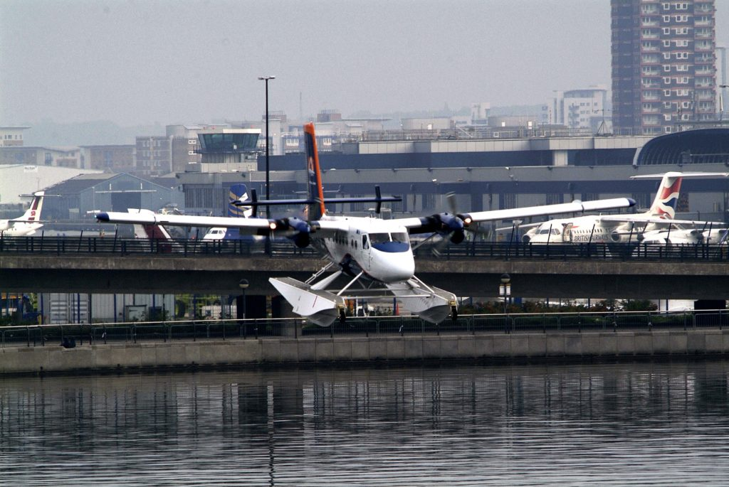 "FOR FREE EDITORIAL USE - issued on behalf of AIRSEA LINES A DHC-6 Twin Otter seaplane took to the skies today over the River Thames from the Royal Victoria Docks on a demonstration flight. AirSea Lines is testing the feasibility of seaplane operations from the River Thames.Ê Said Steven Earle, President and CEOÊ "" We are studyingÊ domestic passenger flights from lakes, rivers and harbours across the UK, and can foresee up to 50 AirSea seaplanes operating in the UK in time for the 2012 London Olympics. ""The potential market for a seaplane operation in the UK is huge. Passengers will be able to fly from the River Thames to the Cardiff Bay Barrage in less than an hour for the price of petrol for the car journey which would take three hours"" added Earle.Ê AirSea Lines operate scheduled seaplane services between eight Greek locations in the Ionian Sea and Brindisi, Italy. The seaplane departs for its home base in Greece tomorrow around noon.Ê  For media information contact: Suzanne Holiday or Samantha Marsh The Saltmarsh Partnership Tel: 0207 928 1600 Mobile: 07823 268 900 (Suzanne Holiday) suzanne@saltmarshpr.co.ukÊ Picture by:Ê GLYN GENIN - 07973 147586"