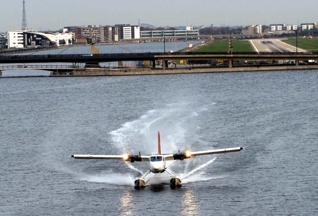 "A DHC-6 Twin Otter seaplane landed today at Royal Victoria Docks on the River Thames at the end of its proving flight. AirSea Lines is testing the feasibility of seaplane operations from the River Thames.Ê Said Steven Earle, President and CEOÊ "" We are studyingÊ domestic passenger flights from lakes, rivers and harbours across the UK, and can foresee up to 50 AirSea seaplanes operating in the UK in time for the 2012 London Olympics."" AirSea Lines, and its Canadian parent operate seaplane flights between eight Greek locations in the Ionian Sea and Brindisi, Italy. The seaplane will make a demonstration flight at World Travel MarketÊ at the Excel Exhibition Centre at around 1.30pm on Tuesday November 7, 2006, and departs for its home base in Greece on Wednesday.Ê  For media information contact: Suzanne Holiday or Samantha Marsh The Saltmarsh Partnership Tel: 0207 928 1600 Suzanne's Mobile : 07834 268900 suzanne@saltmarshpr.co.uk  Pictures by Glyn Genin"